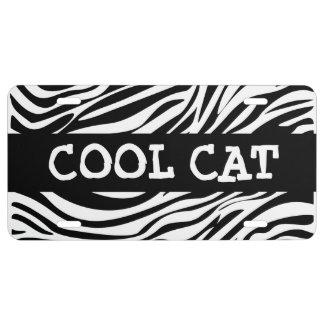 Funny Zebra Cool Ca Tags License Plate
