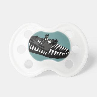 Funny Zebra in a Shoe Art Pacifier