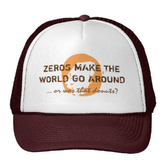 Funny ZEROS & DONUTS brown Cap