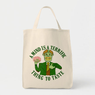 Funny Zombie Adage Tote Bags