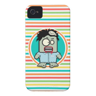 Funny Zombie Bright Rainbow Stripes Case-Mate iPhone 4 Cases