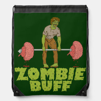 Funny Zombie Buff Weight Lifter Backpack