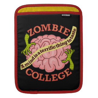 Funny Zombie College Logo Sleeves For iPads