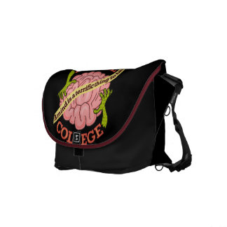 Funny Zombie College Logo Courier Bag