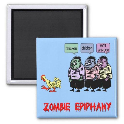Funny zombie fridge magnets