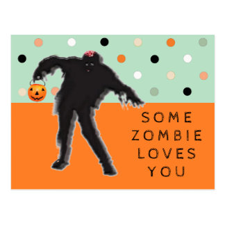Funny Zombie Postcard