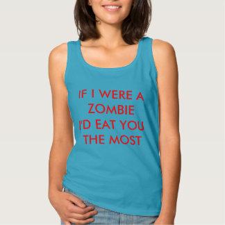 Funny Zombie Quote Singlet