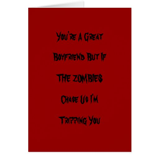 Funny Zombie Valentine Card