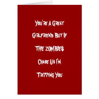 Funny Zombie Valintine Card