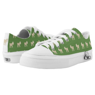 FunnyLittle Goat Pattern Low Tops