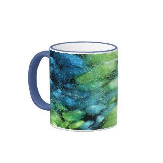 FunnyPhoto Blue&Green Knitted Pattern Mugs