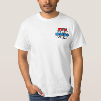 FunWithBonus.com Front Pocket #pinball - Two Sided T-Shirt