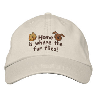 Fur Flies Embroidered Hat