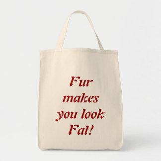 Fur Makes You Look Fat tote bag