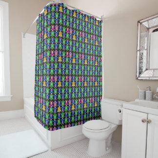 Furby Frenzy - odd Shower Curtain