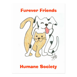 Furever Friends Humane Society postcard