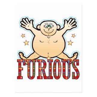 Furious Fat Man Postcard