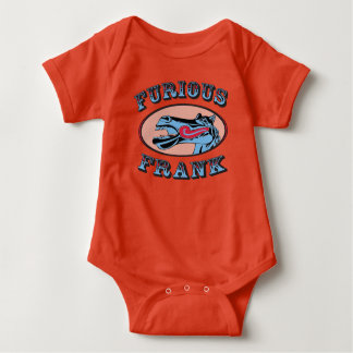 Furious Frank Baby Orange Baby Bodysuit