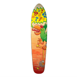 Furious green parrot saying bad words 20.6 cm skateboard deck