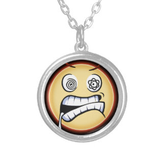 Furious Moji Silver Plated Necklace