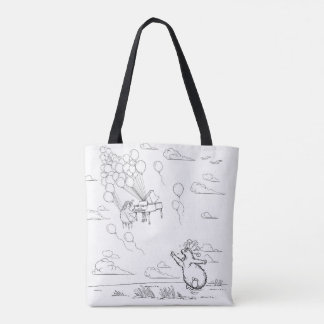 Furious that love floats away tote bag