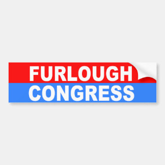 furlough congress bumper sticker