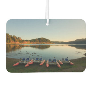 Furnas lake at sunset car air freshener