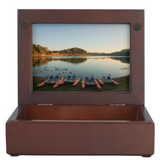 Furnas lake at sunset memory boxes