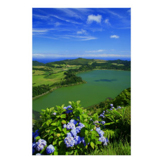 Furnas Lake, Azores Poster