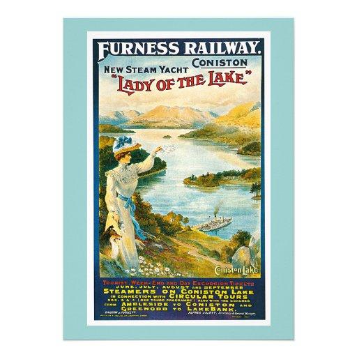 Furness Railway Vintage Travel Advertisement Personalized Invites
