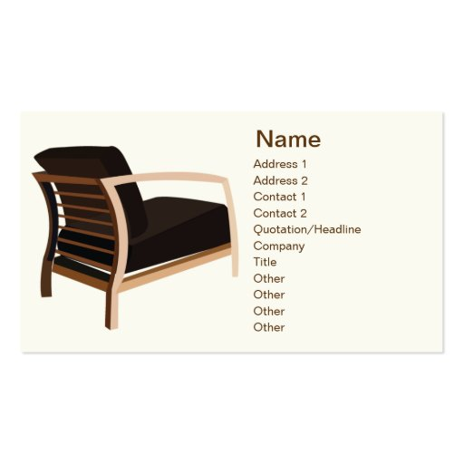 Furniture - Business Business Card Template