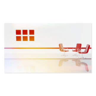Furniture in the living room design pack of standard business cards