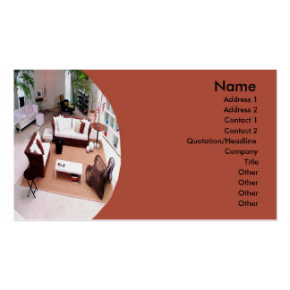 Furniture Interior Design Business Cards