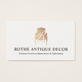 Furniture Restoration & Decor Gold Monogram Logo