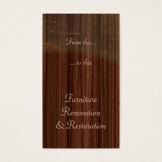 Furniture restoration or refinishing business card