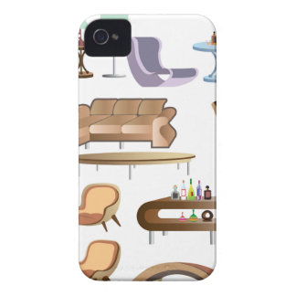 Furniture_Set_Collection iPhone 4 Case-Mate Cases