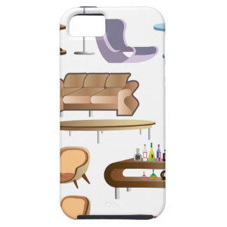 Furniture_Set_Collection iPhone 5 Case
