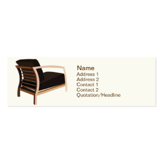 Furniture - Skinny Double-Sided Mini Business Cards (Pack Of 20)