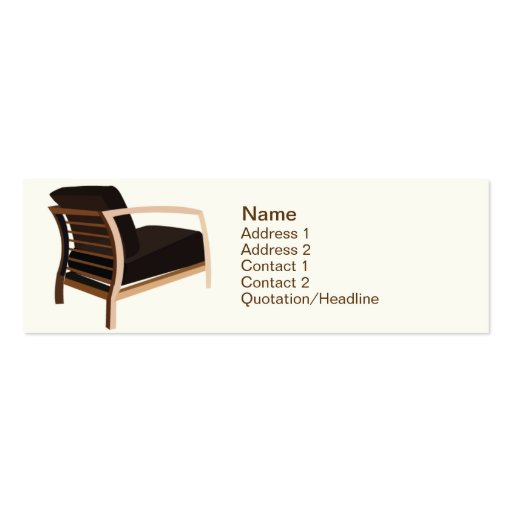 Furniture - Skinny Business Card Templates