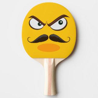 Furrious Yellow Emoji Ping Pong Paddle