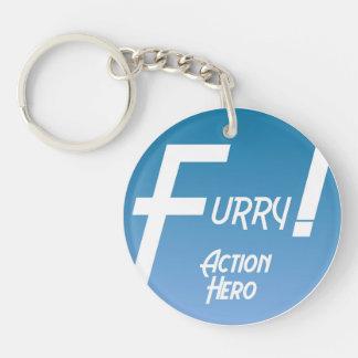 Furry Action Hero! Key Ring