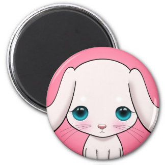 Furry Bunny Magnet