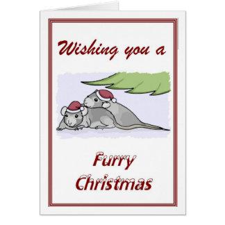 Furry Christmas Card