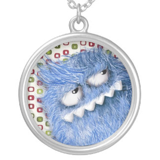 Furry Cool Monster Personalized Necklace