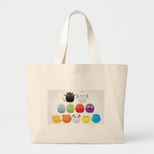 Furry creatures canvas bag