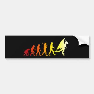 Furry evolution bumper sticker