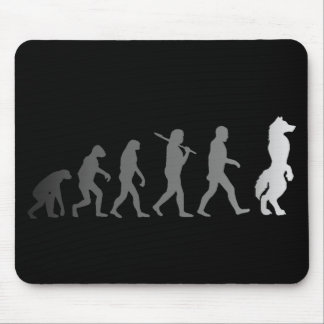 Furry evolution mouse pad