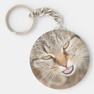 Furry Friend- Fawn Tiger Stripe Cat Key Ring