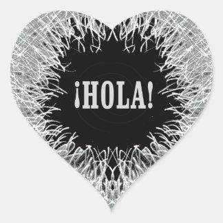 Furry Hola Heart Sticker