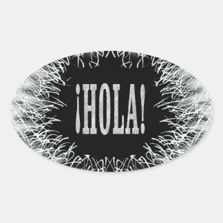 Furry Hola Oval Sticker